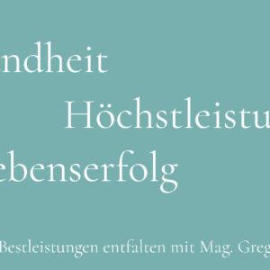 Seminar Gesundheit Erfolg mit Gregor Rossmann